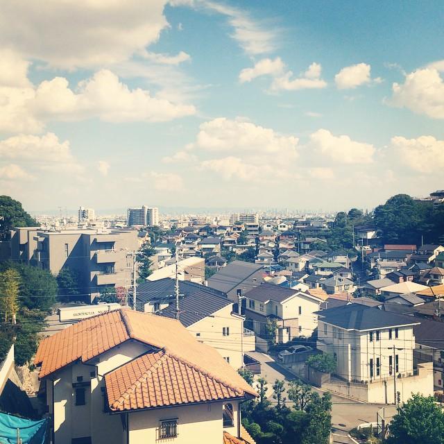 仁川から望む大阪方面の景色