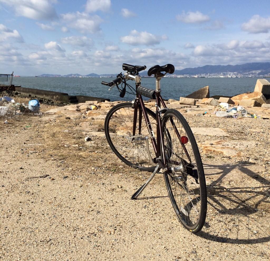 自転車と舞洲