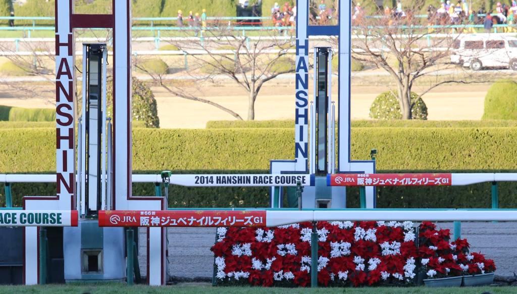 阪神競馬場ゴール板