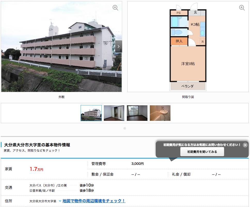 家賃2万円以下イメージ